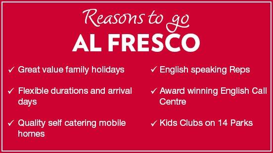 Al Fresco reasons to book