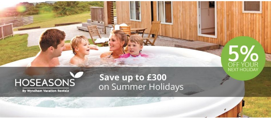 5% off your next Hoseasons Holiday