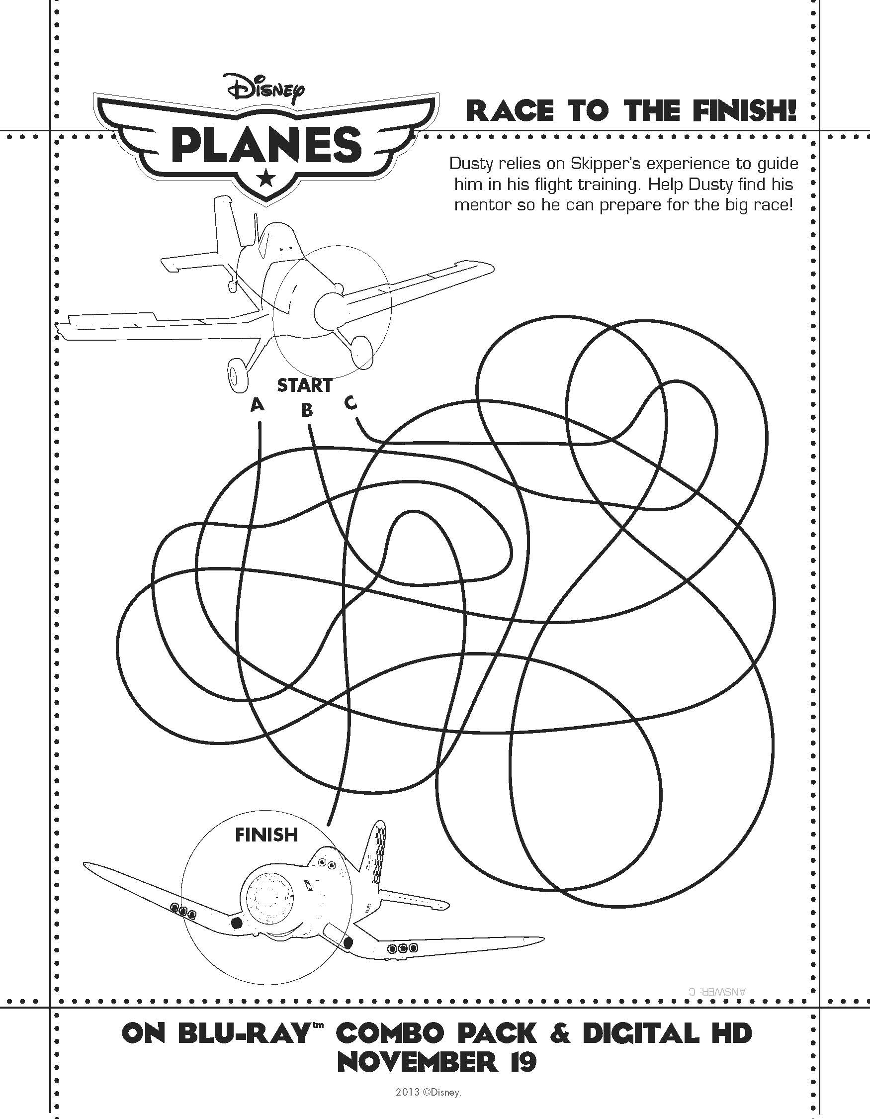 Disneys Planes Activity Sheets What To Do With The Kids