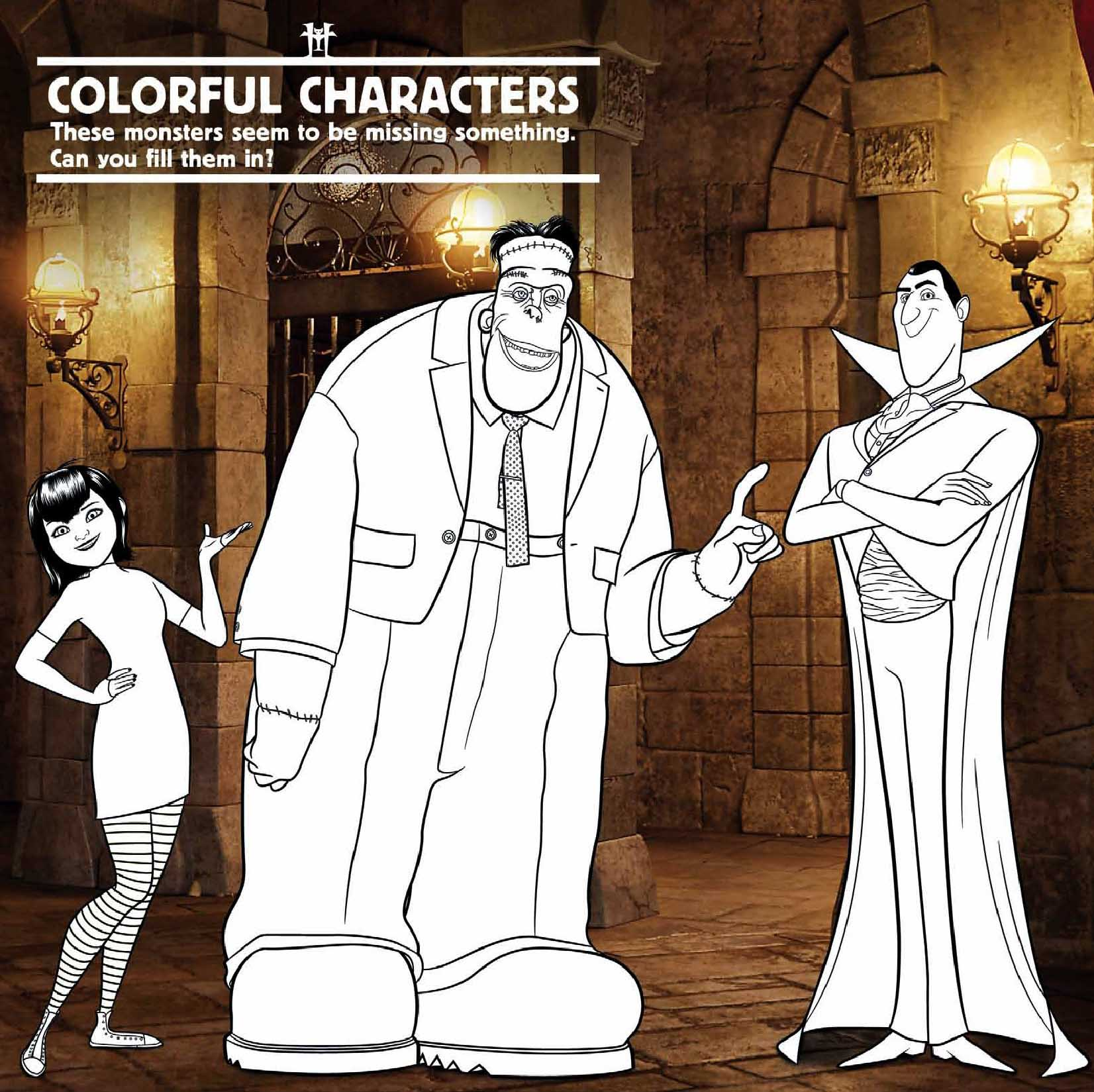 Colouring pages hotel transylvania - Colouring Sheet